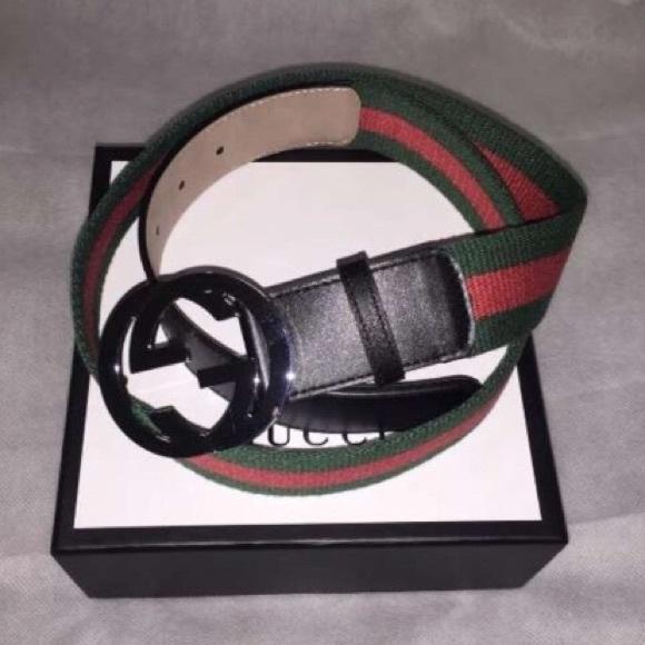 Men\u2019s Black Gucci Belt